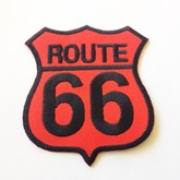 Broken Cherry Red Route 66 Patch