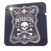 Poison Skull and Crossbones Drink Coaster