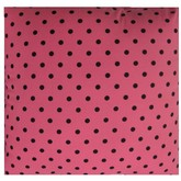 Pink and Black Polka Dots Pillow