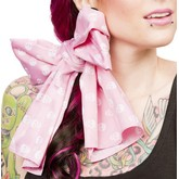 Pink Skull Bad Girl Satin Scarf