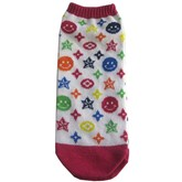 Smiley Pattern Ankle Socks