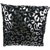 Metallic Leopard Throw Pillow