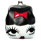 Doll Face Kiss Lock Coin Purse
