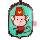 Monkey Funky Animal Luggage Tag