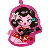 Girl Playing Ukelele Luggage Tag