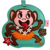 Hula Monkey Boy Luggage Tag