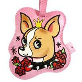 Chihuahua Tattoo Luggage Tag