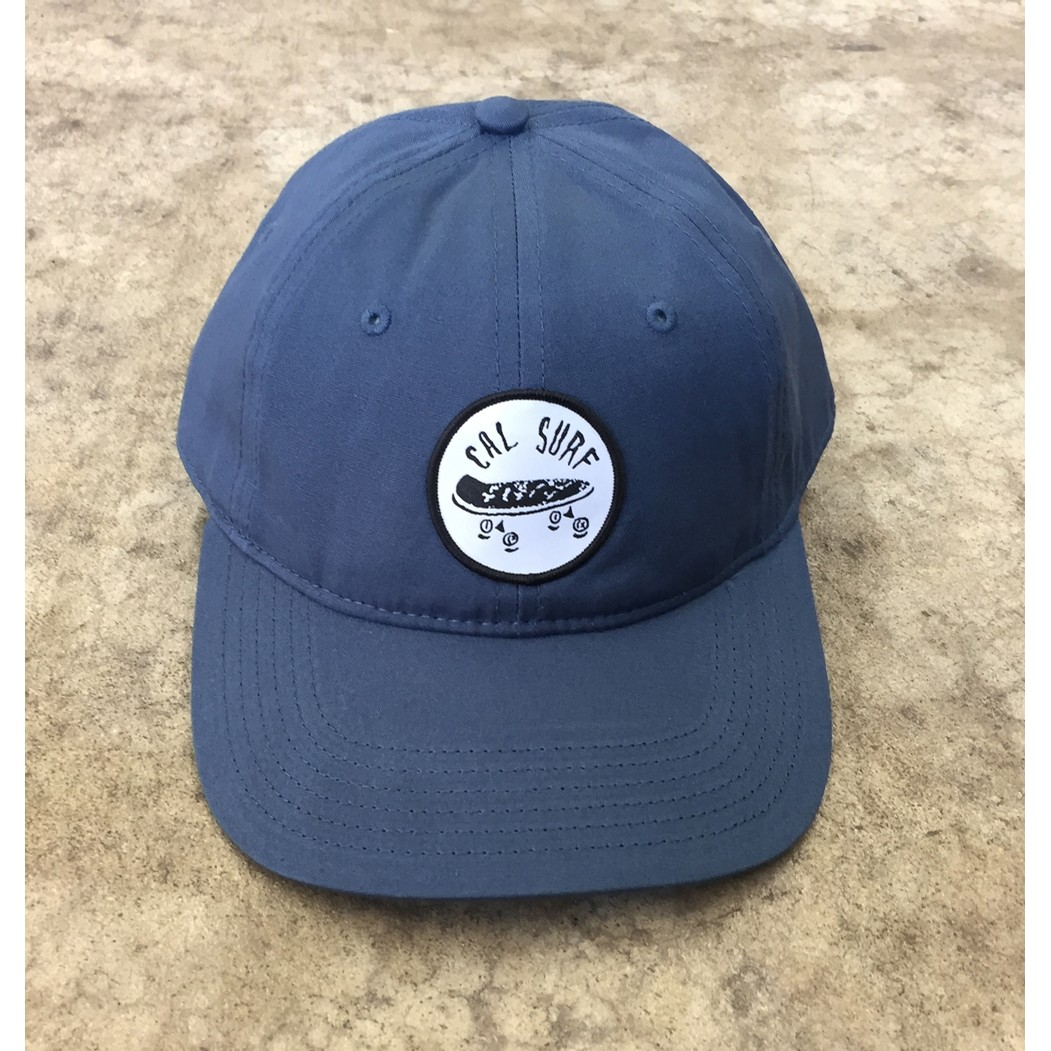 Skate Patch Davie Six Panel Cap - Harbor Blue