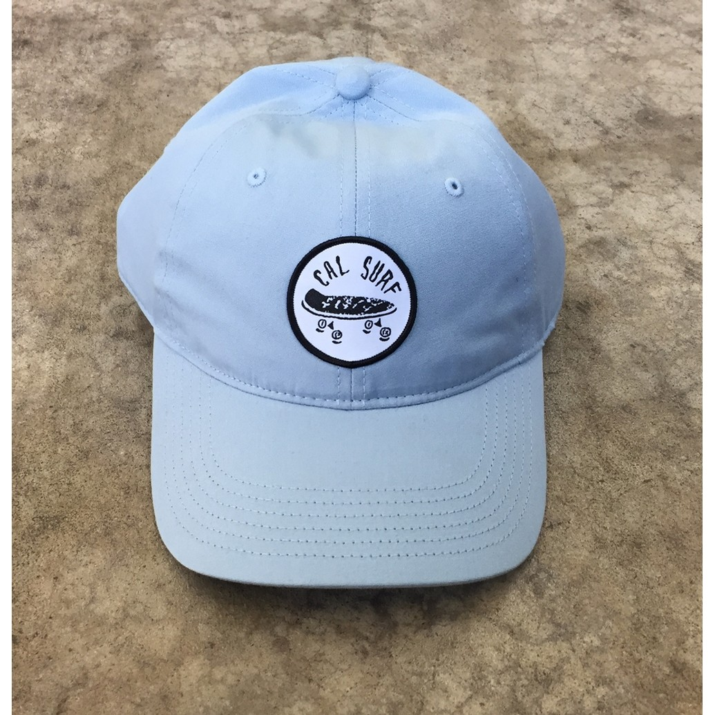 Skate Patch Davie Six Panel Cap - Pale Blue