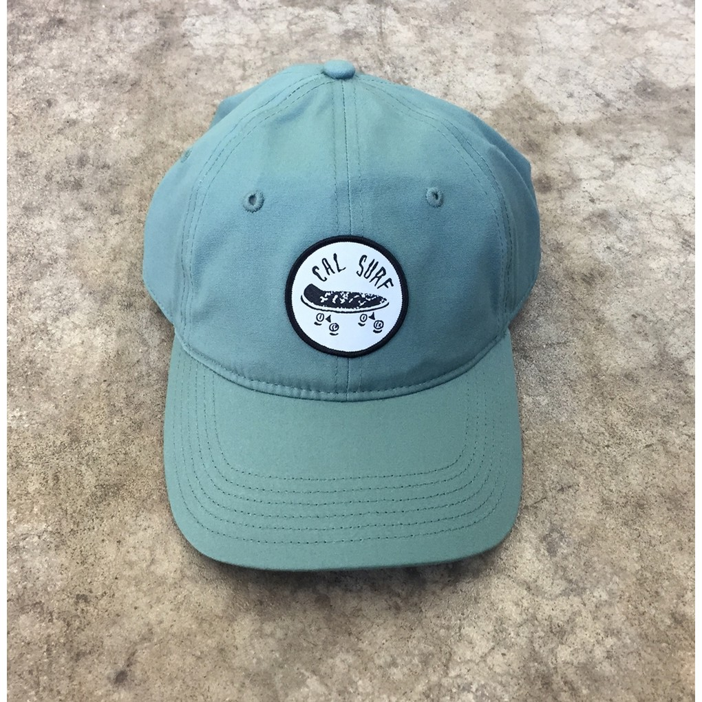 Skate Patch Davie Six Panel Cap - Sage