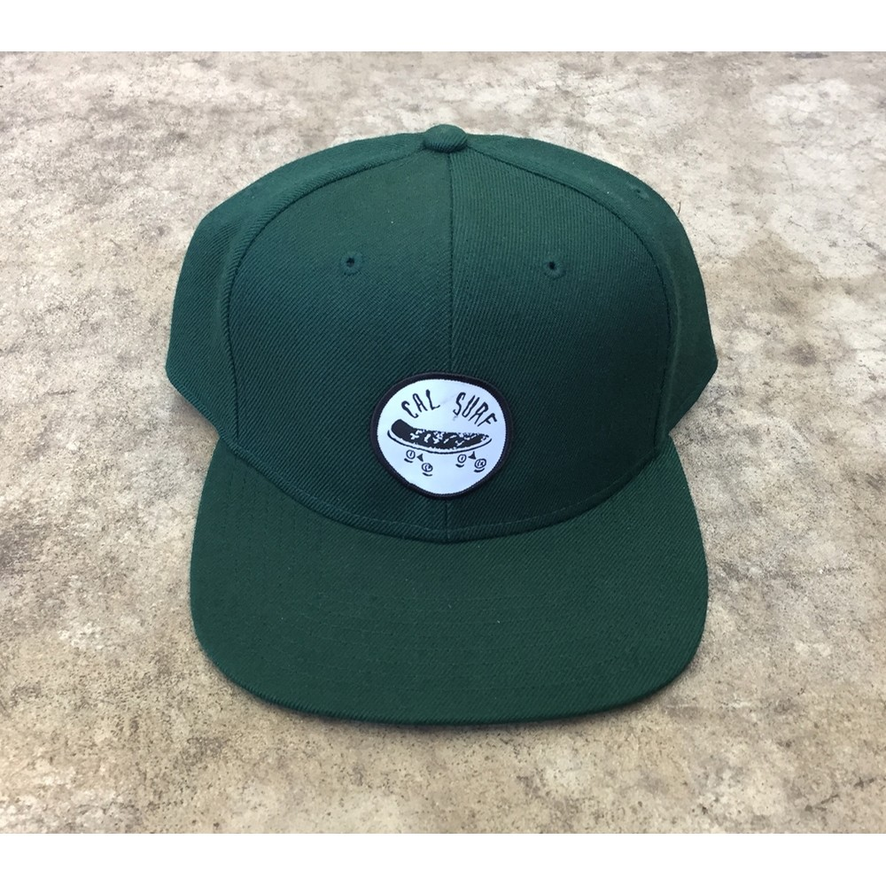 Skate Patch Stock Cap - Forest Green