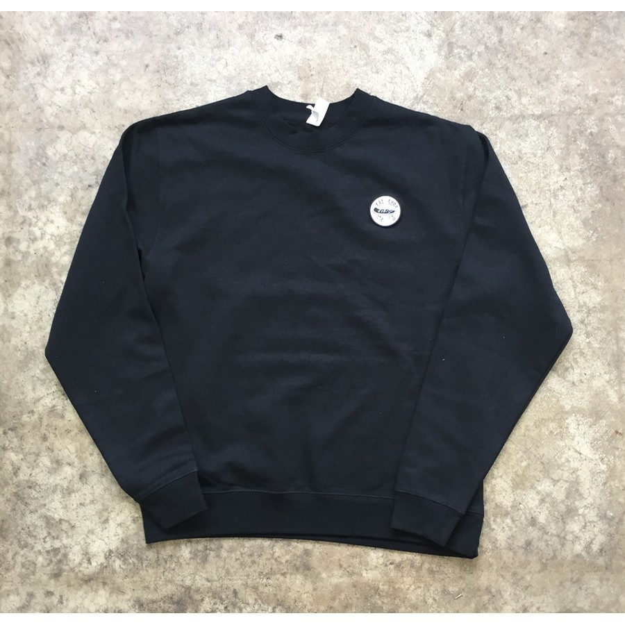 Cal Surf Skate Patch Crew - Black