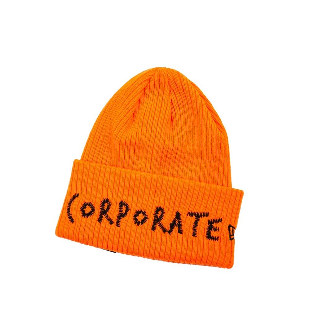 Corporate Corporate Stitched Beanie (Orange)
