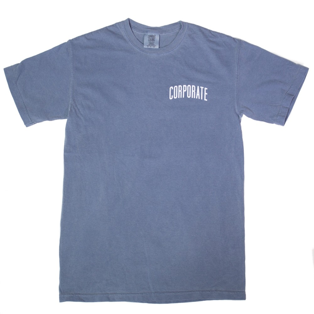 Corporate Washed Tee (Washed Blue)