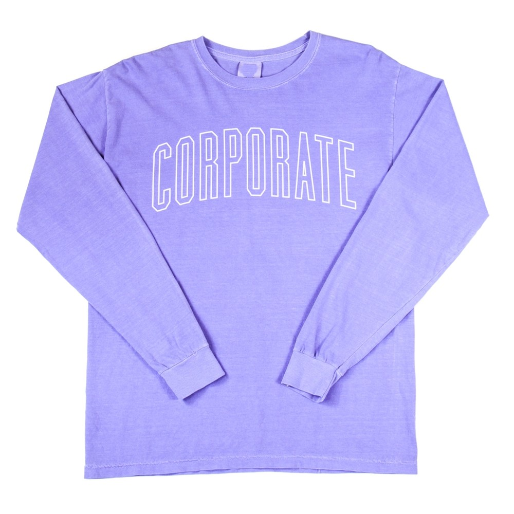 Corporate L/S Arch Outline Tee (Purple)