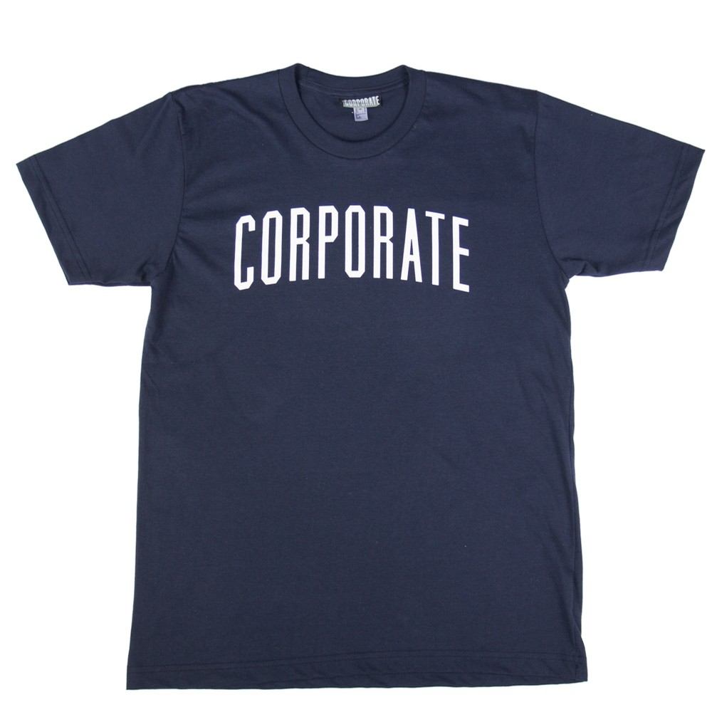 Corporate Arch Tee SS17 (Navy/white)