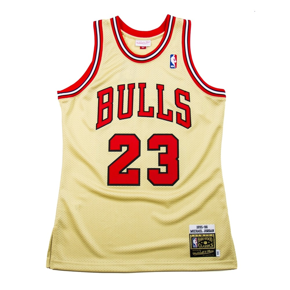 reputable site 91a37 a769b Michael Jordan Authentic Jersey (Gold)