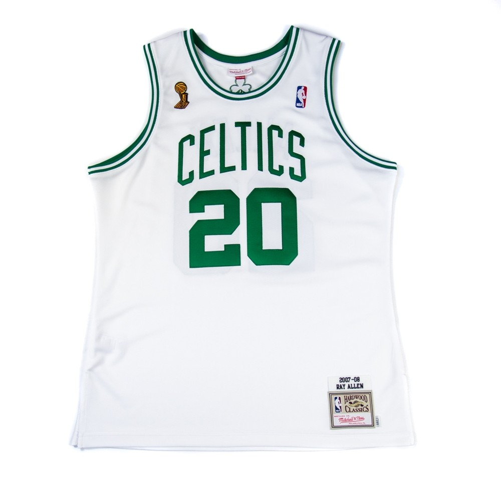 acc1437ddfe 07-08 Ray Allen Finals Authentic Jersey (White). Mitchell & Ness