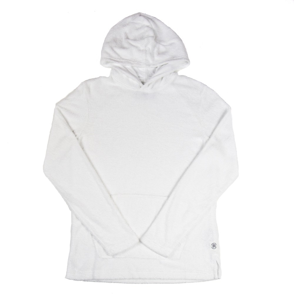 Reigning Champ Knit Towel Terry Pullover Hoodie (White)