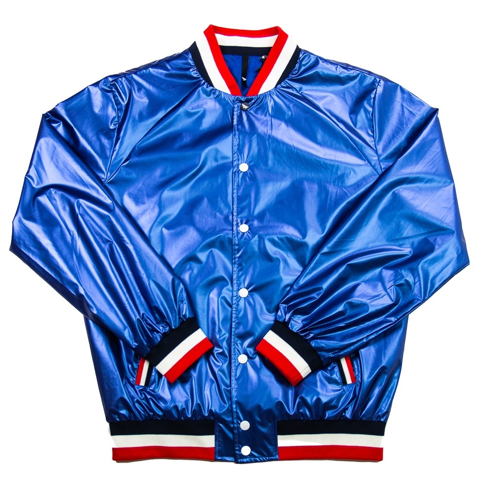 Wheels Up Varsity Jacket (Royal)