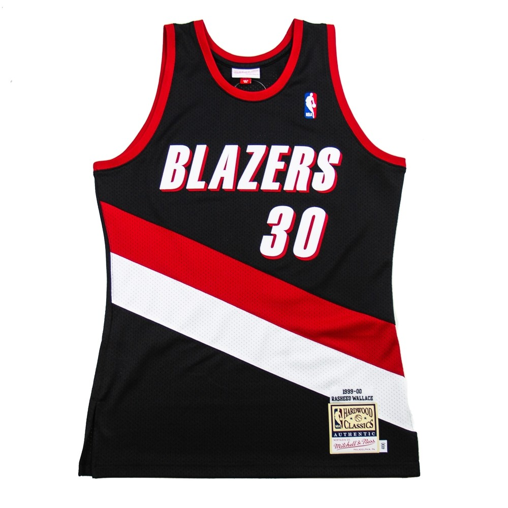 NBA Authentic 2000 Blazers Away Jersey (Rasheed Wallace)