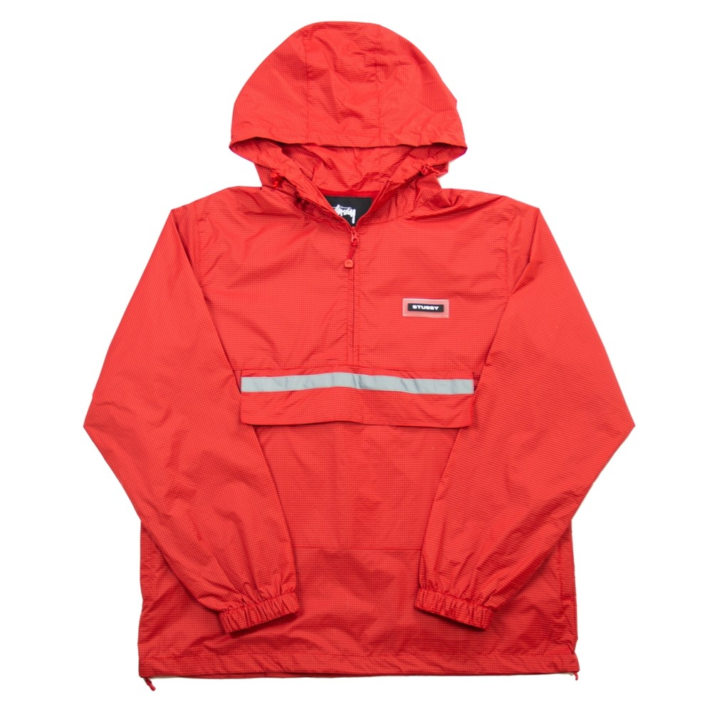 Contrast Ripstop Anorak (Red)