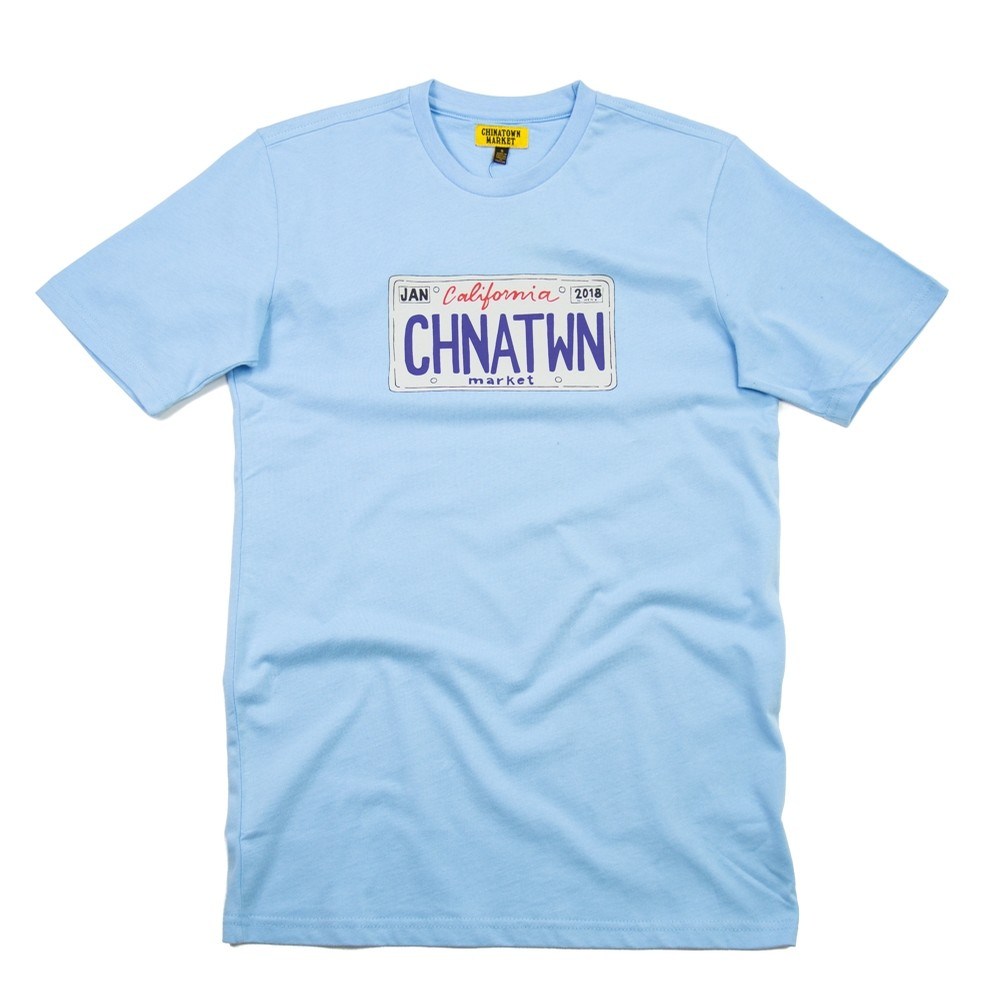 Chinatown Market License Plate T-Shirt (Blue)