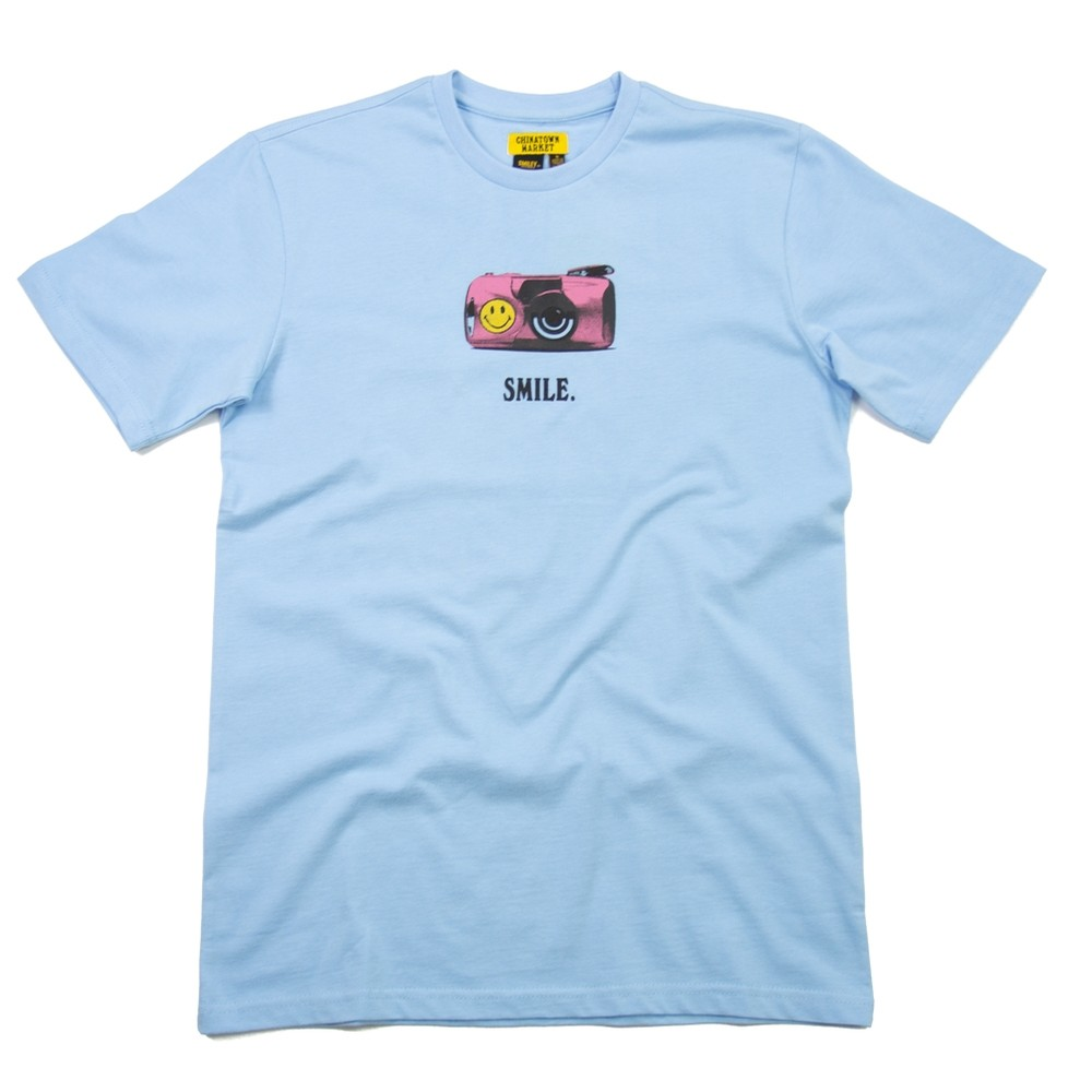 Chinatown Market 1Camera T-Shirt Smiley (Blue)