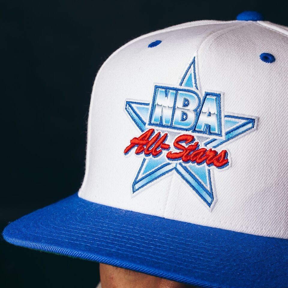 Mitchell & Ness All Star Snapback (White/Blue)