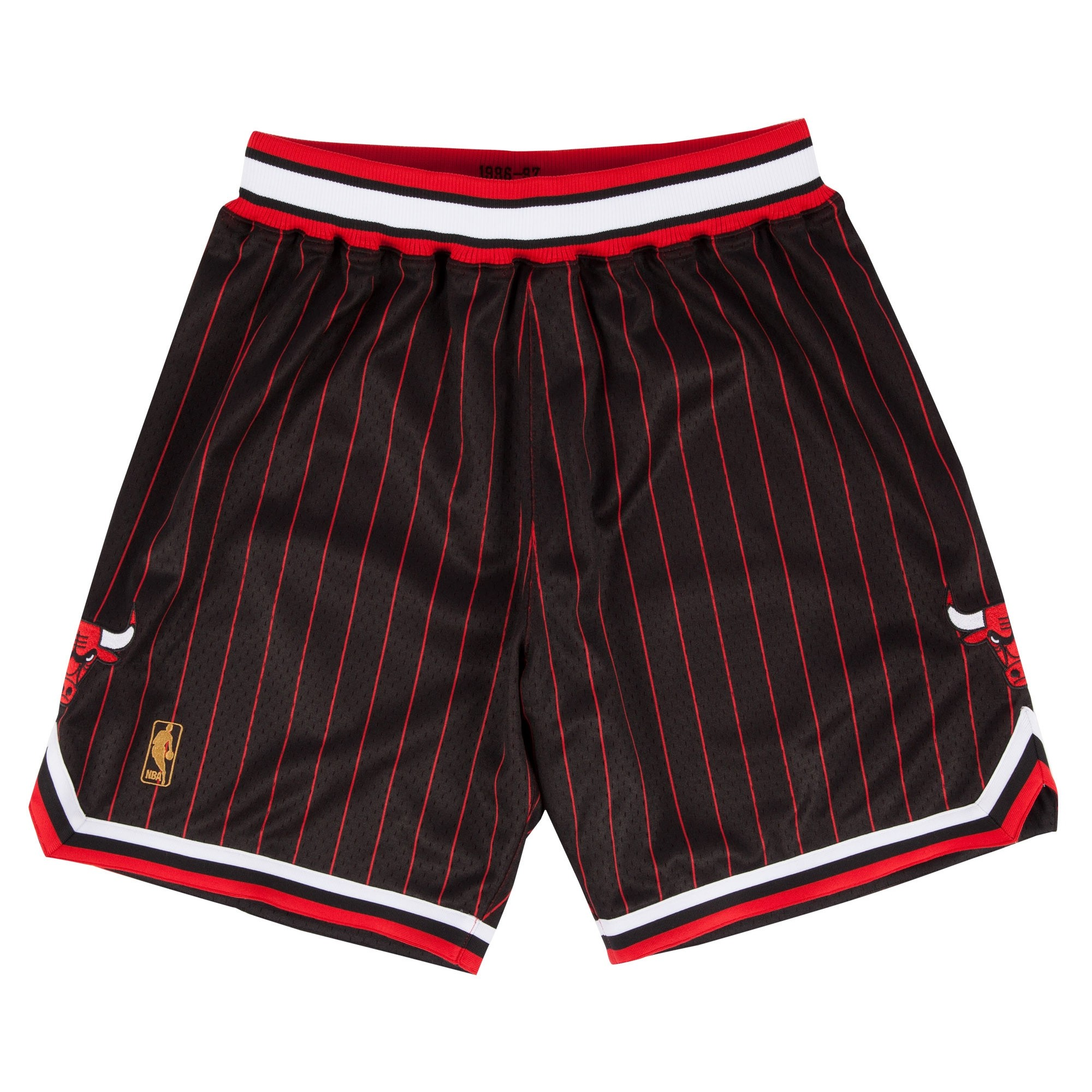 Mitchell & Ness Authentic Chicago Bulls Shorts (Black Pinstripe)