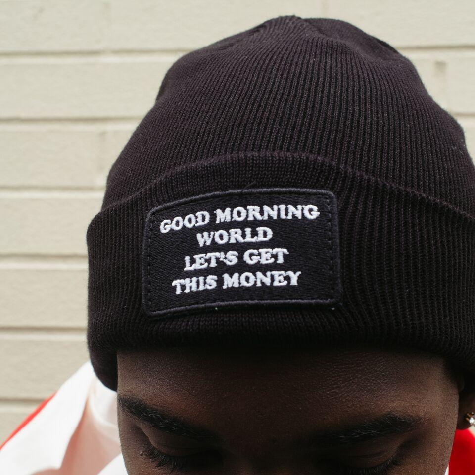 Dope Good Morning World Beanie (Black)