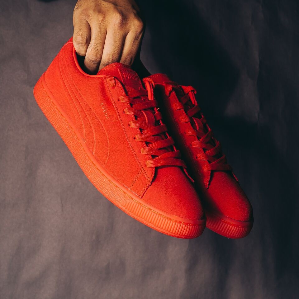 Puma Suede Embossed Iced (High Risk Red)