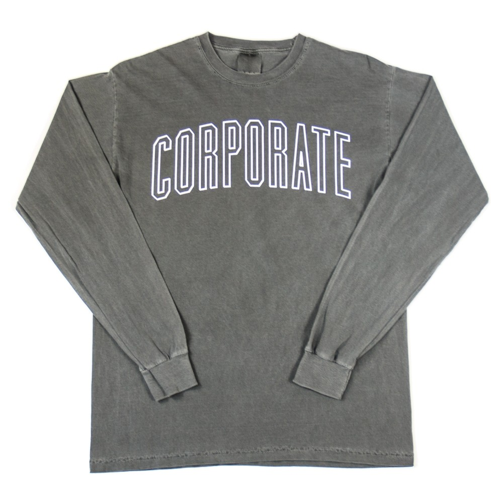 Corporate L/S Arch Outline Tee (Black)