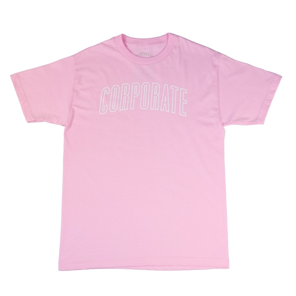Corporate Arch Outline Tee (Pink)