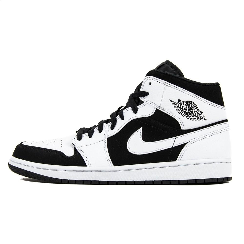 Air Jordan 1 Mid (White/Black/White)