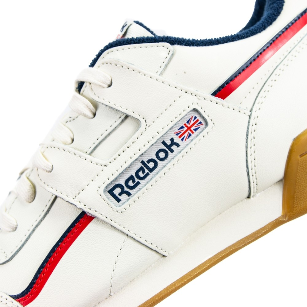 Reebok Workout Plus MU (Classic White Navy Red) FOOTWEAR ... 09c237245