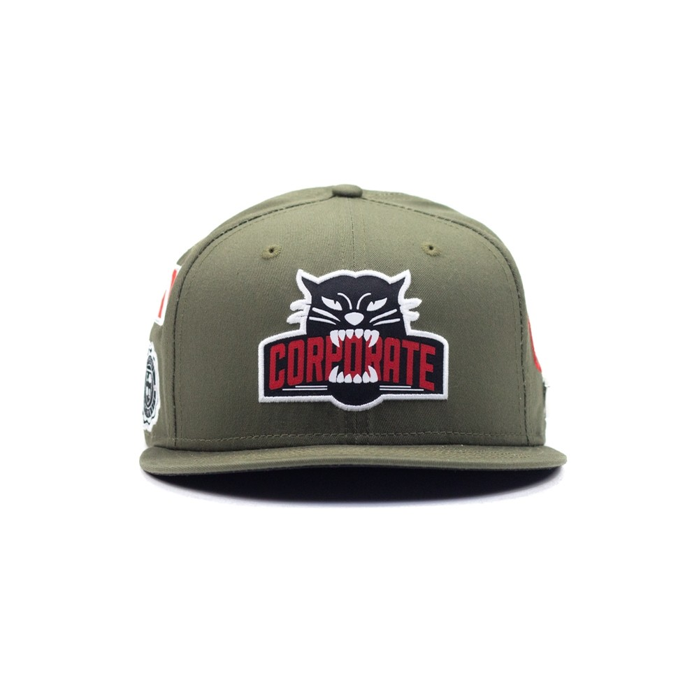 Corporate Seek All Over New Era Snapback (Olive)