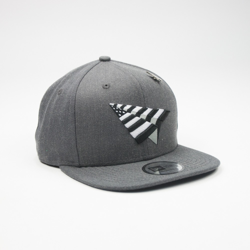 Planes Crown Snapback (Charcoal)