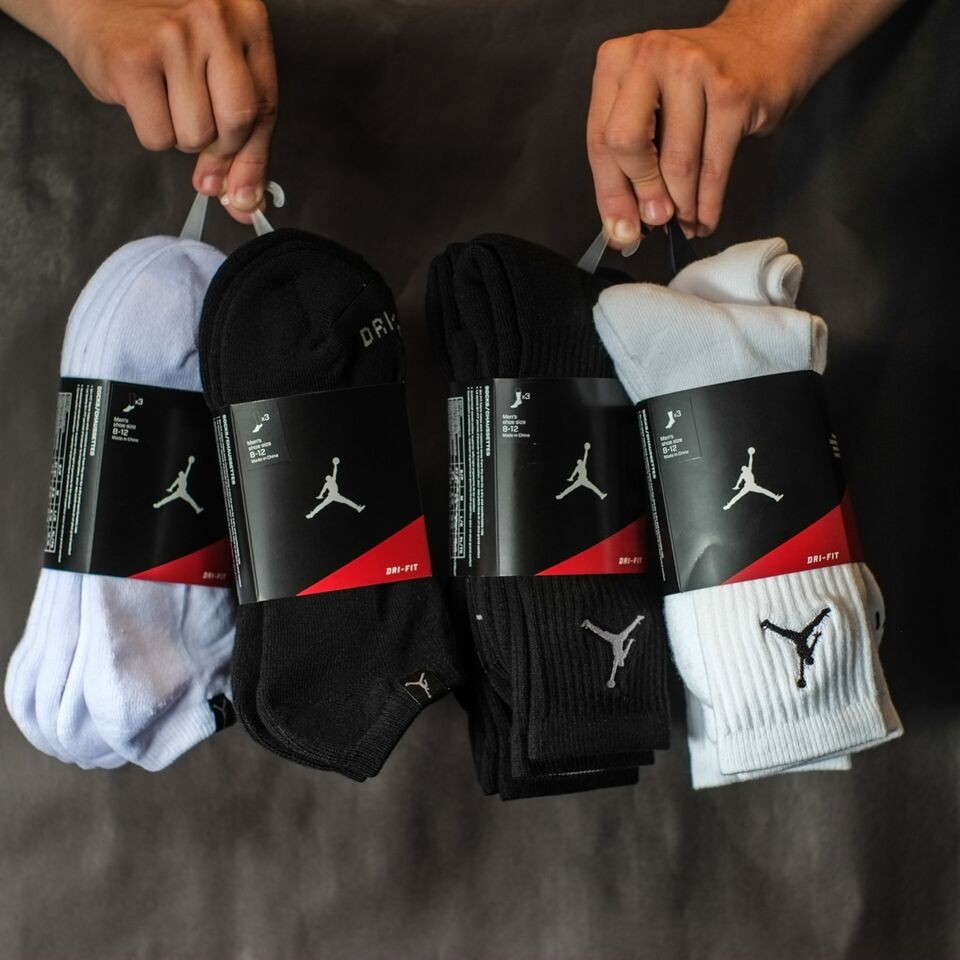Jordan Jordan Dri-Fit 3 Pack Socks - White