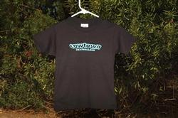 Cowtown Youth OG Logo S/S Tee (Black/Teal)