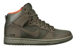 Nike Dunk High Premium SB (Steel Green/Olive Khaki-Safety Orange)