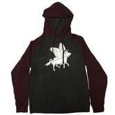 OG Flying Cow Pullover Hoody (Charcoal Heather/Burgundy)