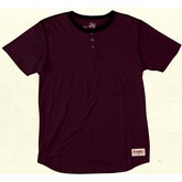 Rydall Detailed Henley Tee (Burgundy)