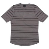 Lewis S/S Knit (Grey/Brown Stripe)