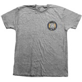 Bro Style Stripe Logo Tee (Heather Grey)