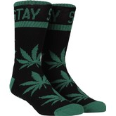 Stay Smokin Crew Sock (Black/Green)