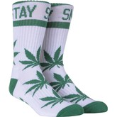 Stay Smokin Crew Sock (White/Green)