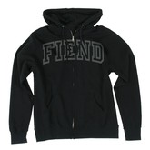FIEND ZIP HOODED SWEATSHIRT (BLACK)