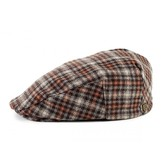 Hooligan Cap (Grey/Brown Plaid)