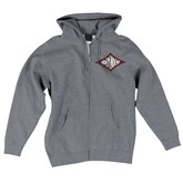Diamond Re-work Hooded Zip (Gunmetal Heather)